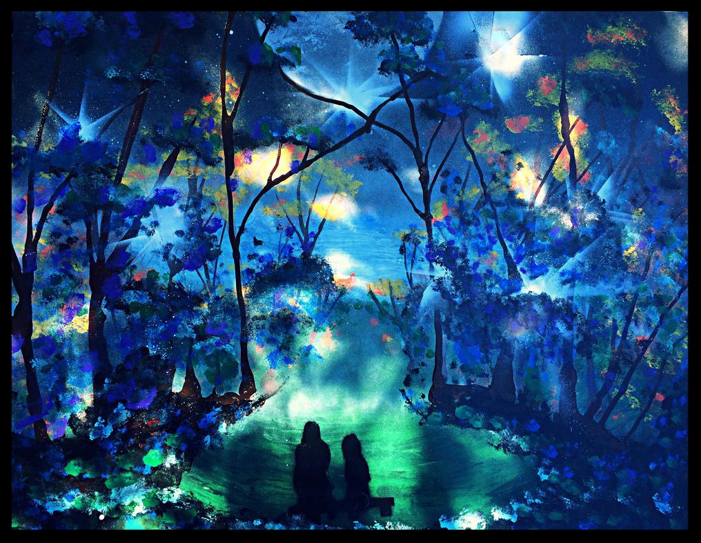Sitting below the Moonlight Valley by MrThinkaLott