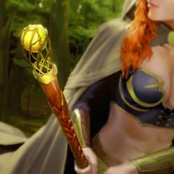 Legends of Norrath - Aged Sapling Staff by Kaiz0