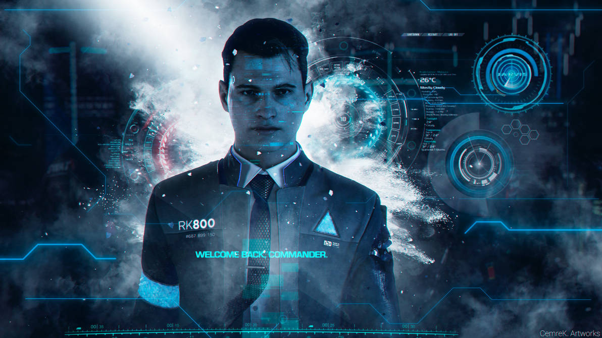 Detroit Become Human Connor Wallpaper By Cemreksdmr On