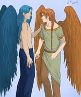 Sehla and Malaziel by Autumn-Sacura