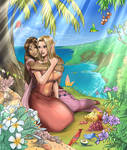 Callisto and Elistrae at seaside