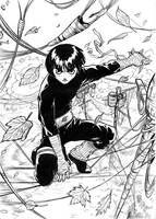 Rock Lee - dancing in wires by Autumn-Sacura