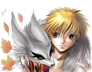 Naruto and his demon-fox by Autumn-Sacura