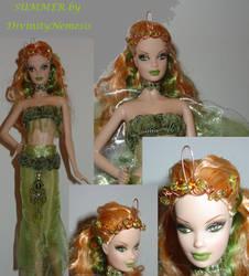 ooak barbie fairy summer by DivinityNemesis