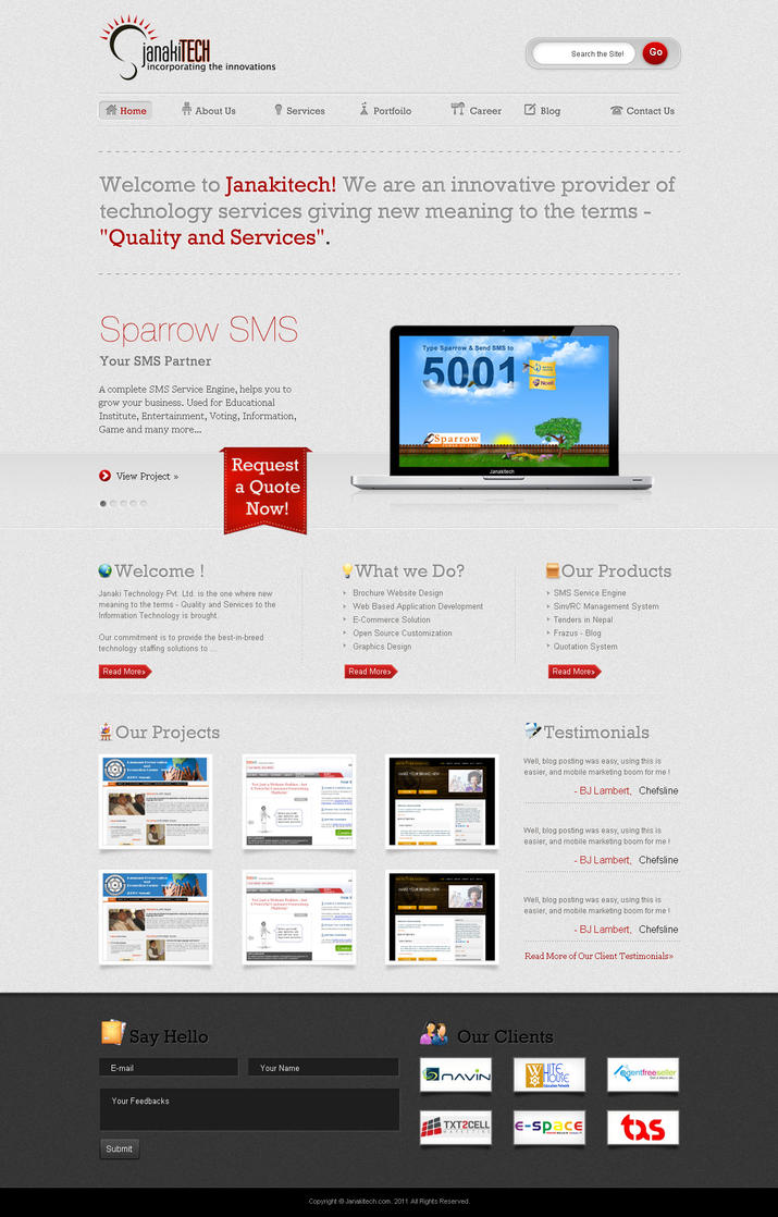 janakitechnology  my company by hood lord d37lgta Web Interface Showcase of Inspiration