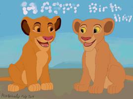 Happy birthday to my great sisters! Simba and Nala