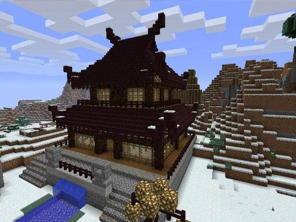 minecraft japanese pagoda by iron46x - Minecraft Japanese Village