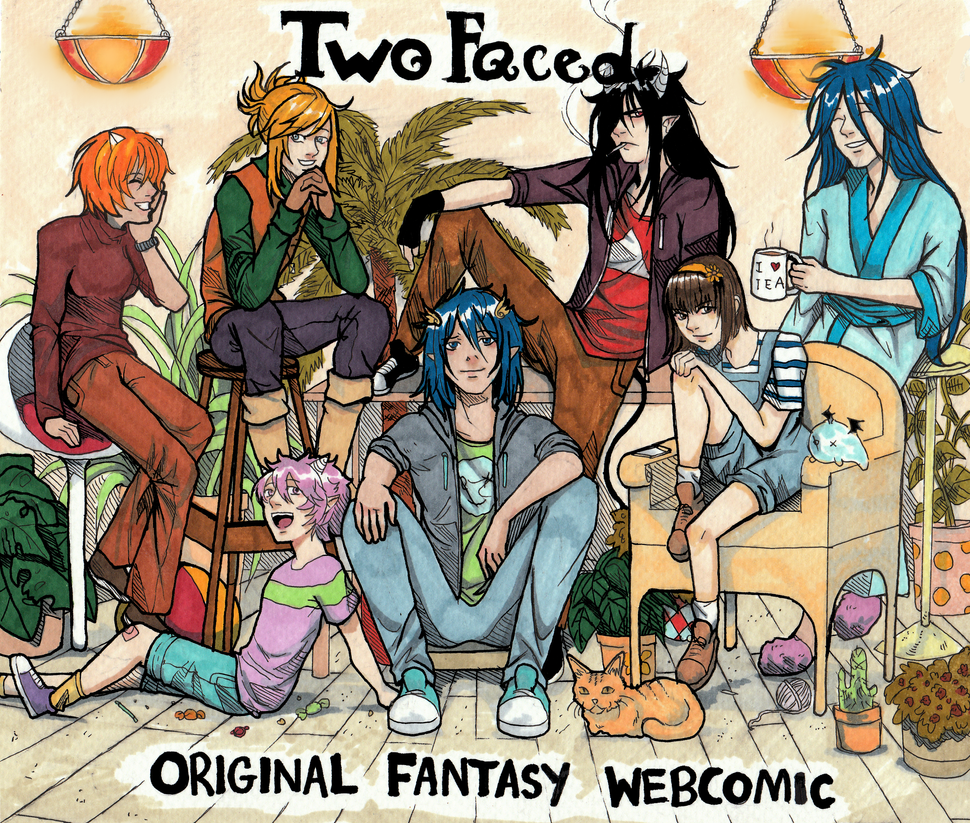 Two Faced - Poster by Inui-Purrl