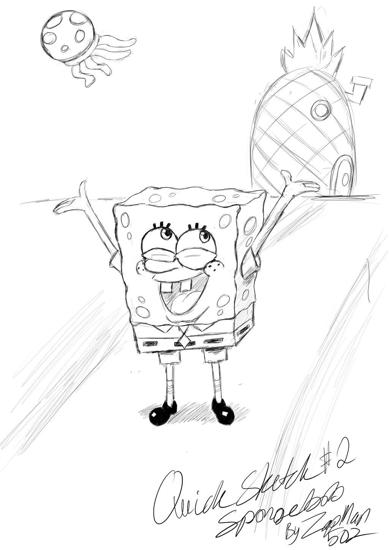Uncategorized Sketch Of Spongebob quick sketch 2 spongebob check description by zapman502 on zapman502