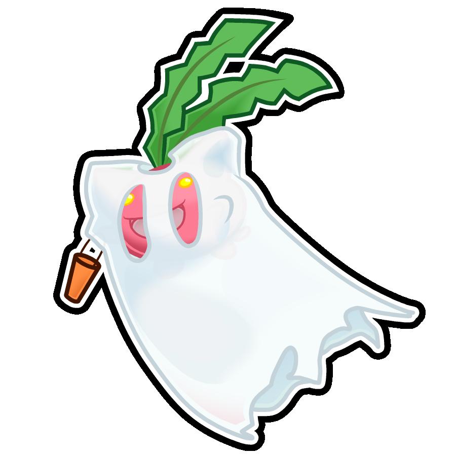 Hoppip Halloween Sticker by The-Blue-Pangolin