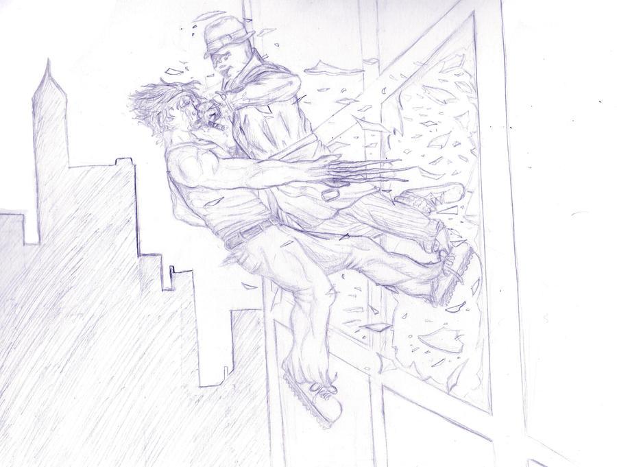 Wolverine vs Rorschach by PropaGandhi101