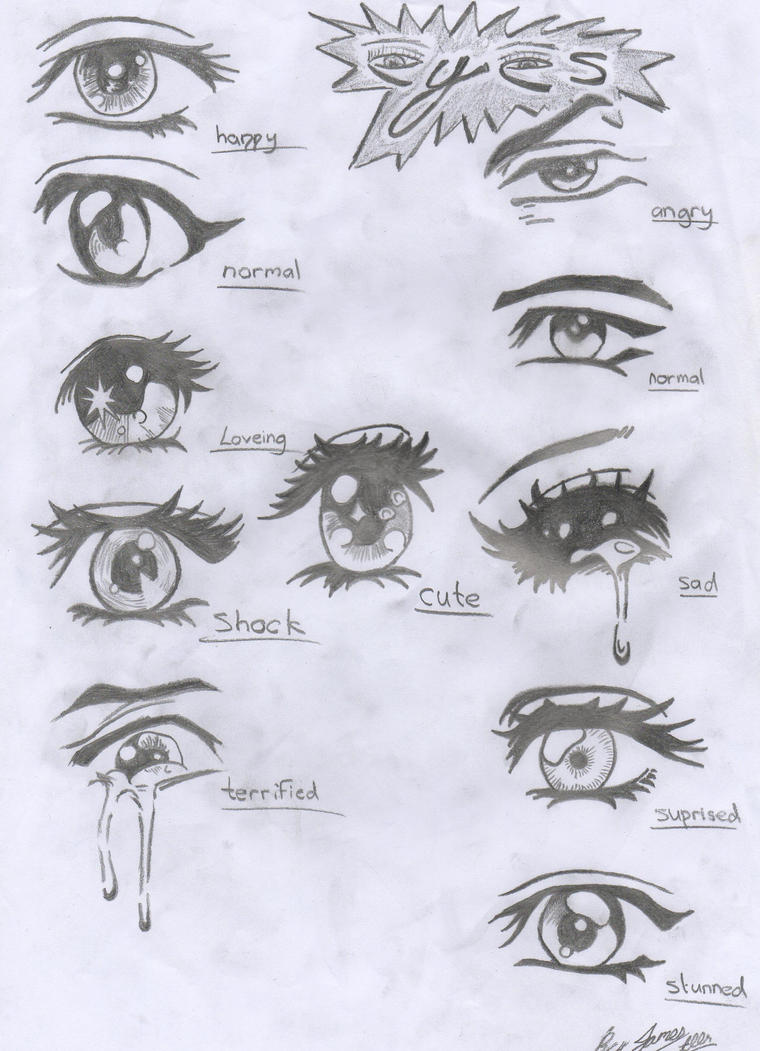 how to draw half closed eyes anime