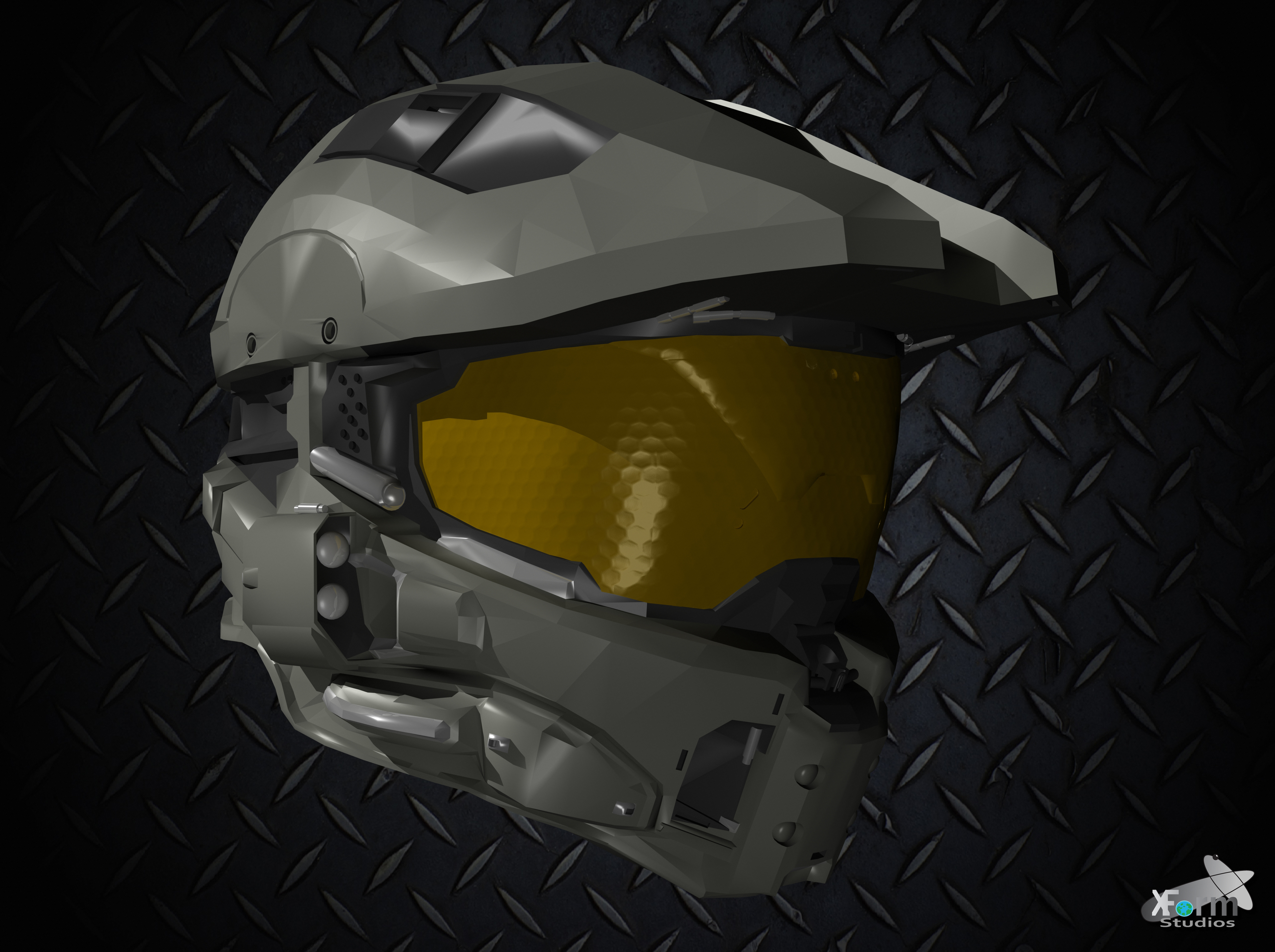 Halo 4 Master Chief's Helmet By Jamezzz92 On DeviantArt