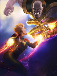 Captain Marvel vs. Thanos