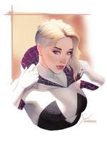 SpiderGwen by PapurrCat
