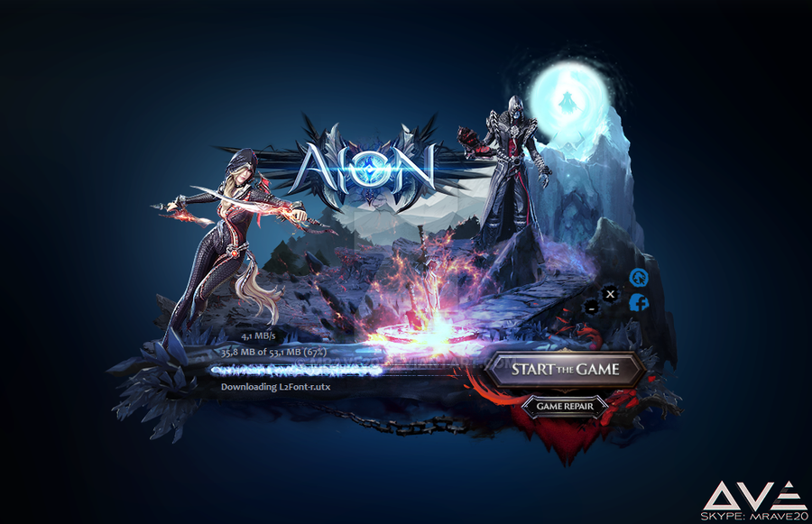 Lineage II Updater (custom skin: 10a) by MrAve20