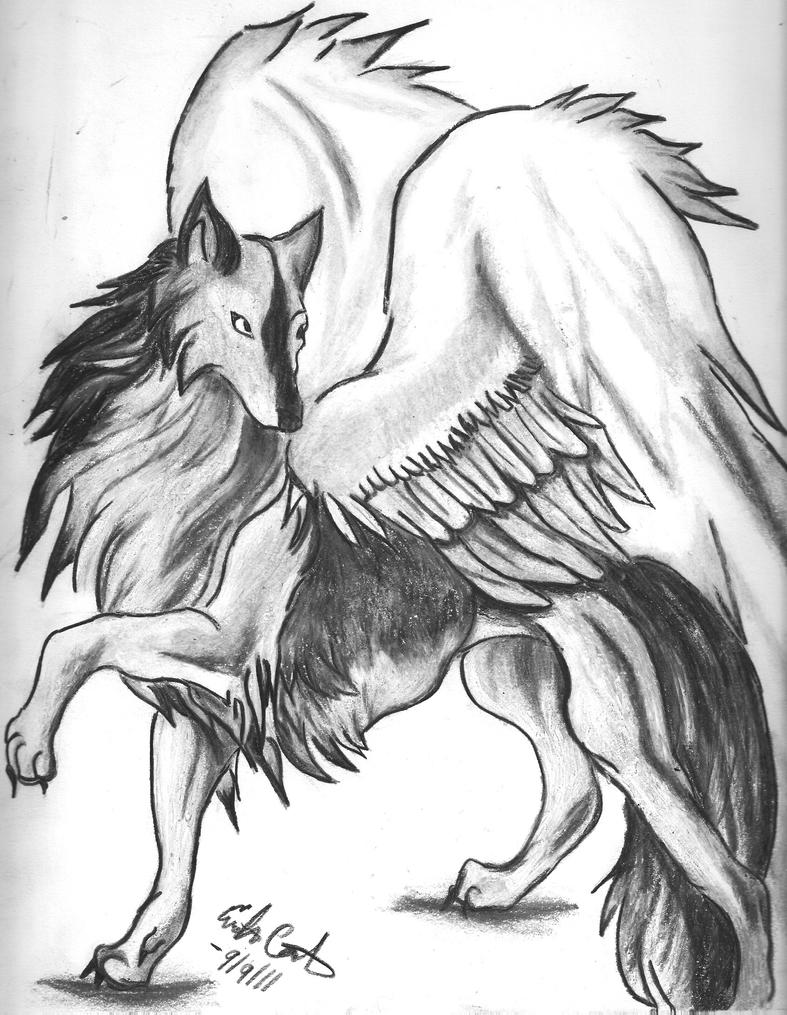 My Guardian Winged Wolf by NoctisFayne on DeviantArt