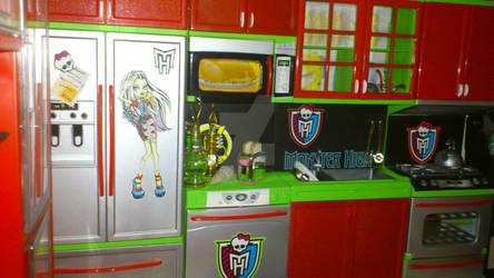 Monster High custom kitchen by angel99percent