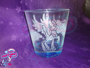 Princess Luna glass engrave by angel99percent