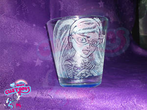 Ghoulia glass engrave by angel99percent