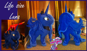 Life size Princess Luna plushie SOLD by angel99percent