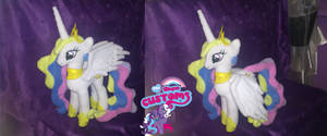 Princess Celestia plush 14'' commishion by angel99percent