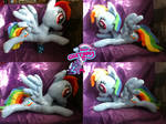 Flying/lying Rainbow Dash 50cm long