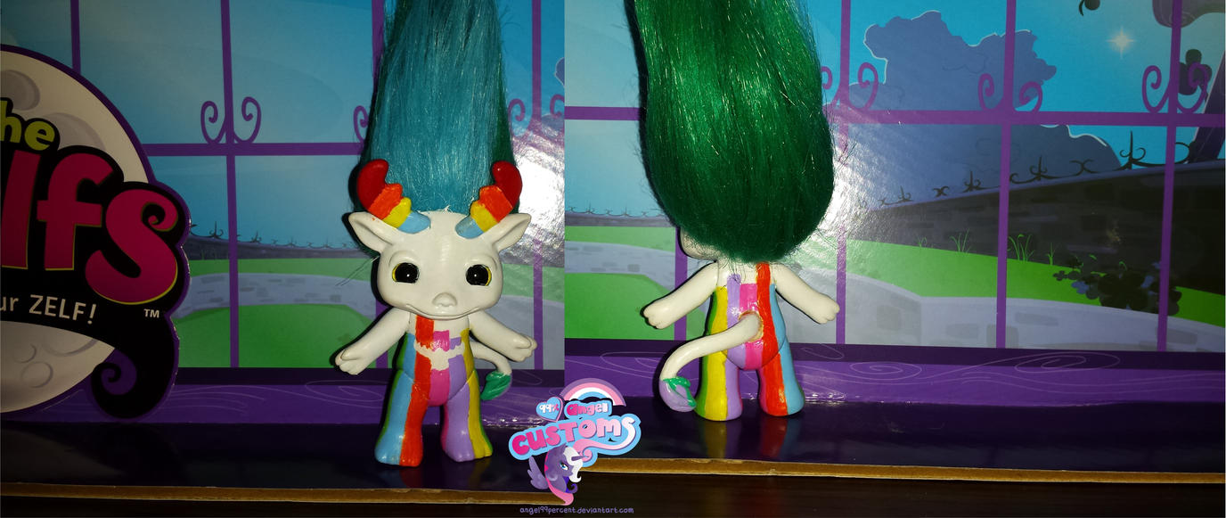 Rainbow Manny medium custom by angel99percent