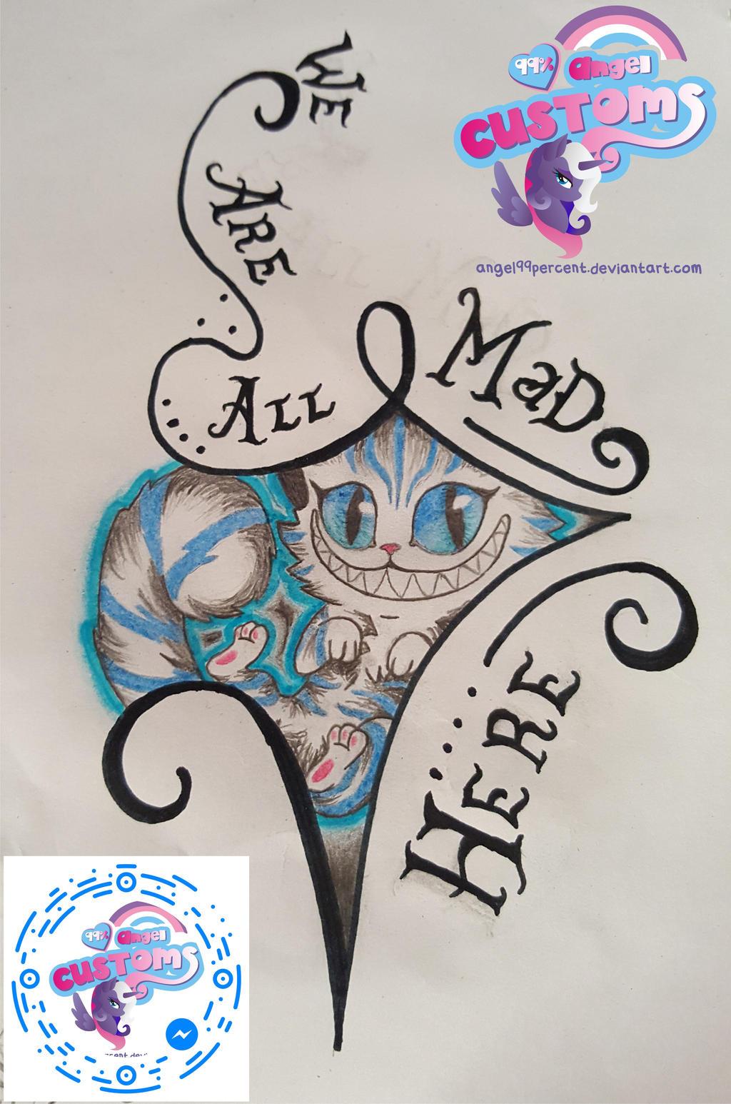 Cheshire cat tatoo project