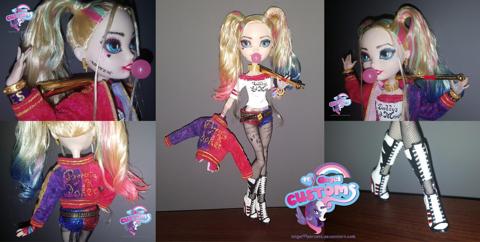 Harley Quinn custom doll from Suicide Squad