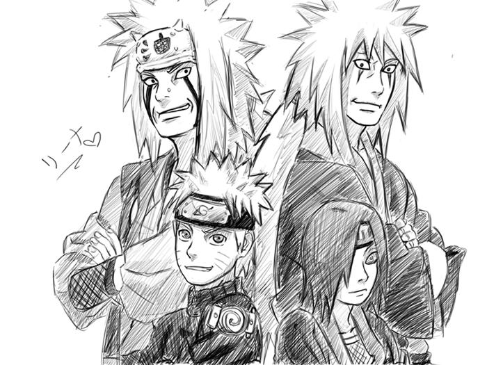 Jiraiya, Naruto...