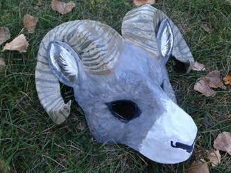 Bighorn Sheep Mask by Silver-Sundog