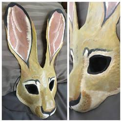 Black-tailed Jackrabbit Mask by Silver-Sundog