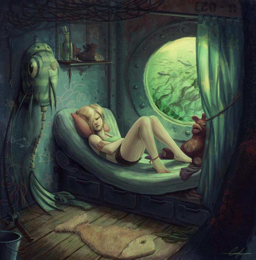 Fishgirl's Berth by SnakeToast