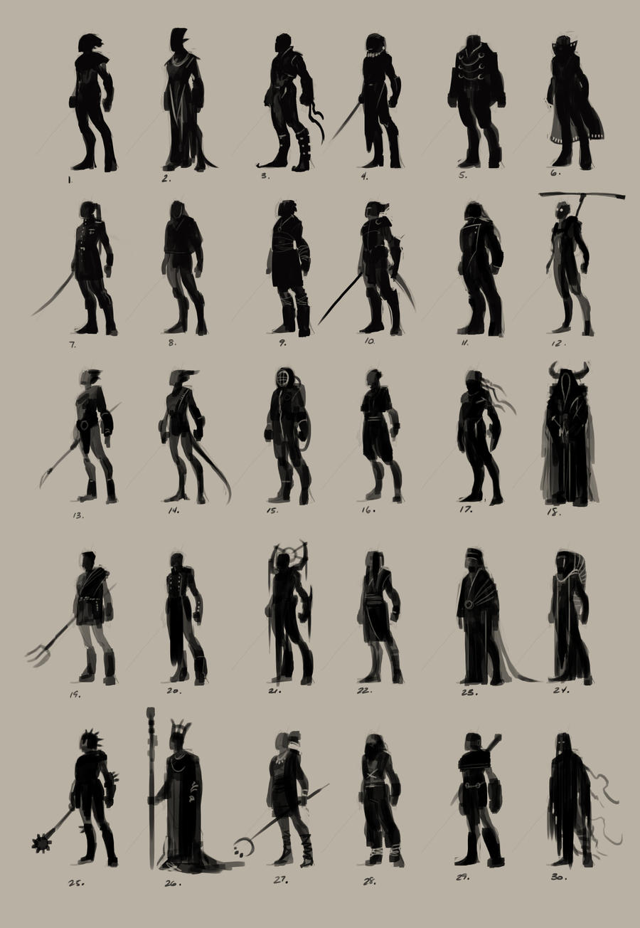 Character Design Thumbnails : Male character thumbnails by snaketoast on deviantart