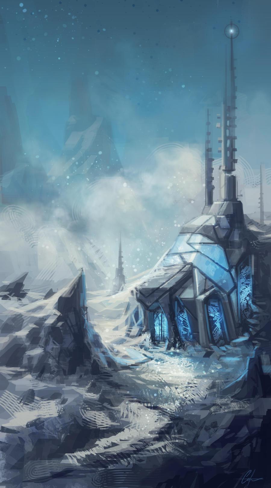 Speedpaint - Icebound Chapel by SnakeToast