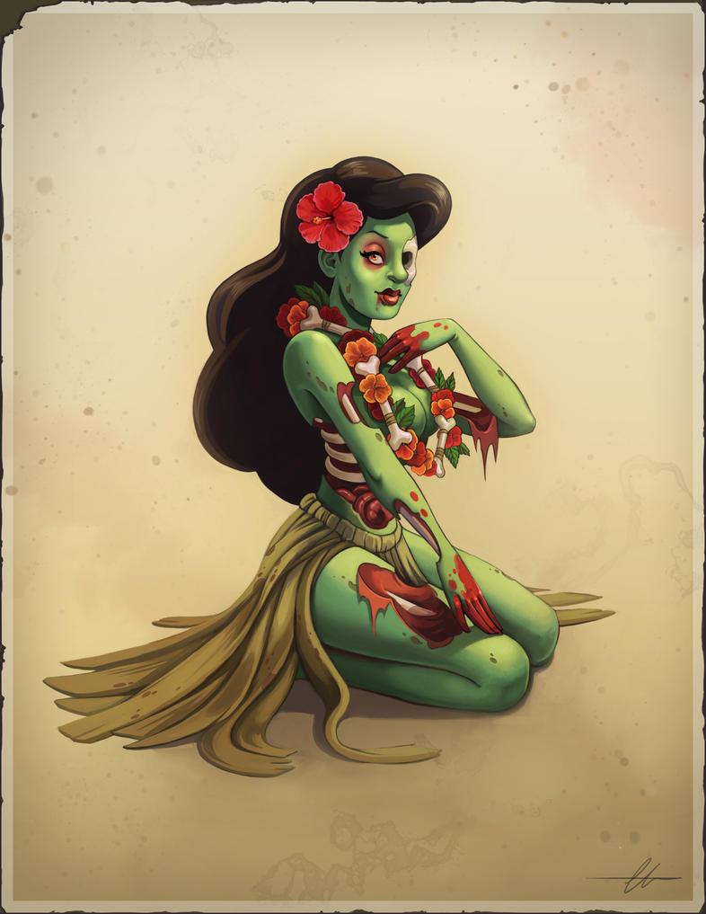 Zombie Hula Girl by SnakeToast on DeviantArt