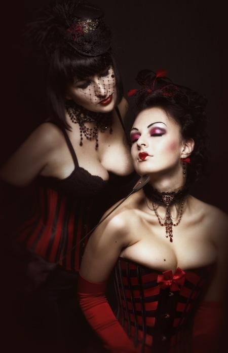 Victorian Lattice Ribbon Corset ~ Stripes Corset by Alice-Corsets