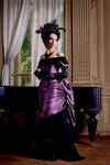 Feathered Victorian Gown