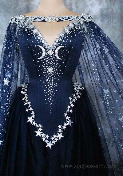 Nightgodess gown fantasy wiccan wedding dress by alice corsets junglespirit Image collections