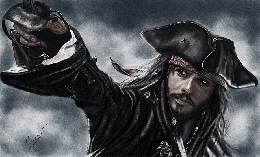 painting Jack Sparrow by Ineer
