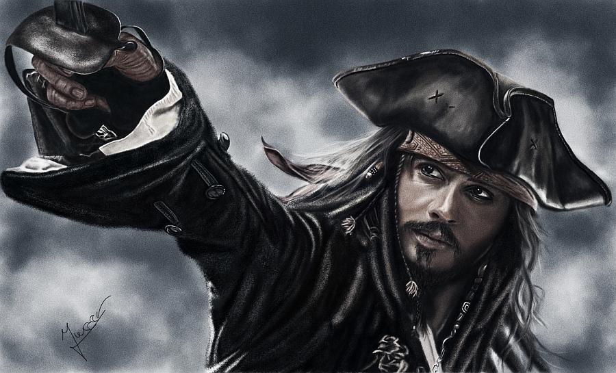 painting Jack Sparrow by Ineer