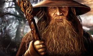 painting Gandalf