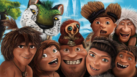 The Croods drawing by Ineer