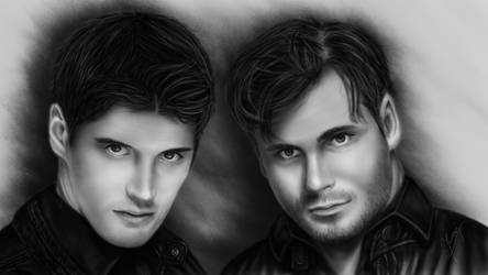 2 Cellos Drawing by Ineer
