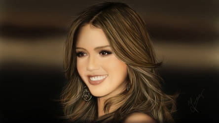 Painting Jessica Alba by Ineer