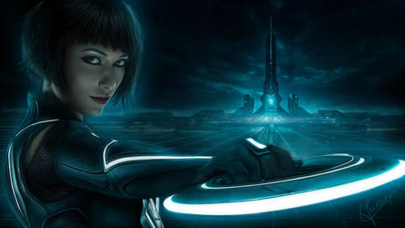 painting Olivia Wilde Tron Legacy