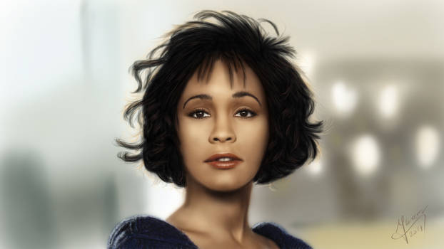 Drawing - Whitney Houston
