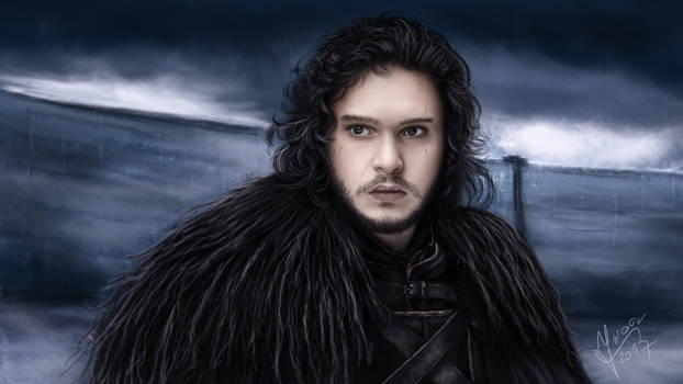 Drawing - Game of Thrones -  Jon Snow
