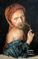 Study of Female with Peacock Feather by tousser